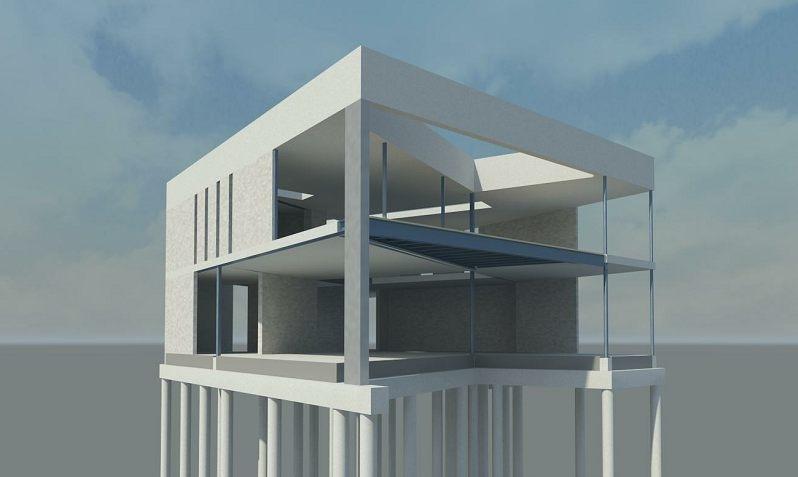 Nieuwbouw villa constructief ontwerp hoofddraagconstructie - Architectuur en constructie ...