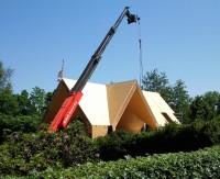 uitvoering houtskeletbouw villa te Bussum in volle gang